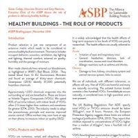 Healthy buildings - The role of products